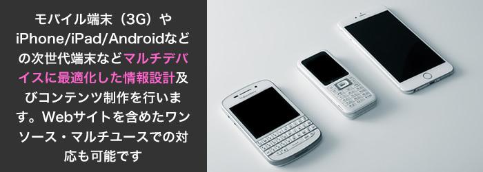 モバイル/スマートフォンサイト製作